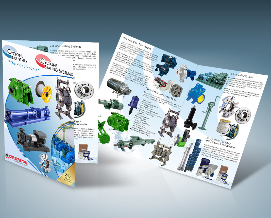 Cyclone Industries Company Portfolio Brochure Design & Printing