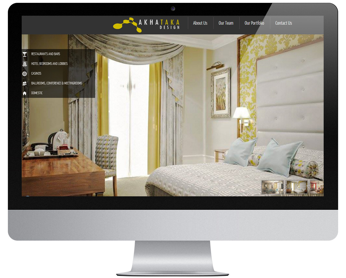 Akhataka design interior designers website design for Interior designs websites